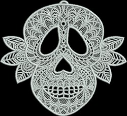 FSL Day of the Dead Skull embroidery design