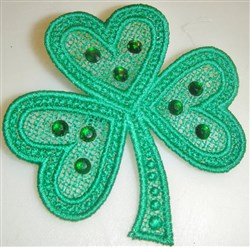 FSL Shamrock Brooch embroidery design