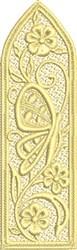 Floral FSL Bookmark embroidery design