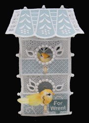 FSL & Applique Two Story Birdhouse embroidery design