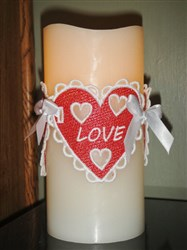 FSL Valentine Candle Cover embroidery design