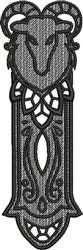 FSL Capricorn Bookmark embroidery design