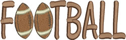 Football Lettering embroidery design