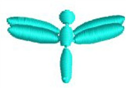 Tiny Dragonfly embroidery design