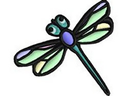Pastel Dragonfly embroidery design