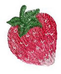 Strawberry embroidery design