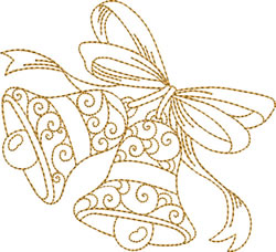Swinging Golden Bells embroidery design