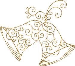 Golden Bells Stars embroidery design