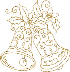 Golden Bells   Pointsettia embroidery design