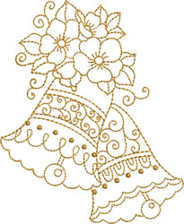 Scalloped  Golden Bells embroidery design