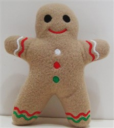 Gingerbread Man Softie embroidery design