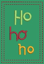 Ho Ho Ho Gift Card Holder embroidery design