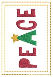 Peace Gift Card Holder embroidery design