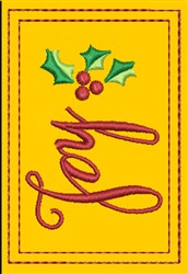 Joy Gift Card Holder embroidery design