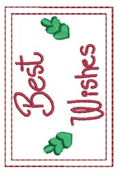 Best Wishes Gift Card Holder embroidery design
