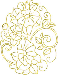 Morning Glories embroidery design