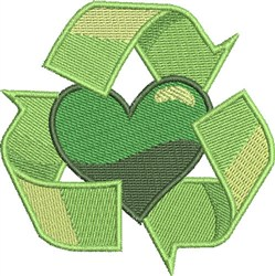 Go Green Recycle embroidery design