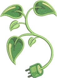 Go Green Electric embroidery design