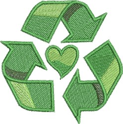 Go Green Small Recycle embroidery design