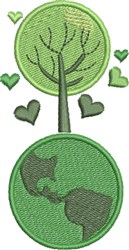 Go Green Tree embroidery design