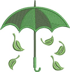 Go Green Umbrella embroidery design