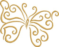 Golden Mariposa embroidery design