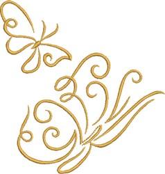 Graceful Butterflies embroidery design