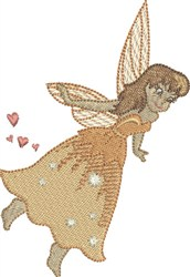 Tangerine Gracious Fairy embroidery design