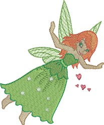 Lime Gracious Fairy embroidery design