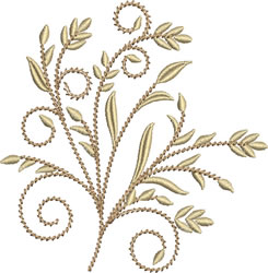 Golden Wheat embroidery design