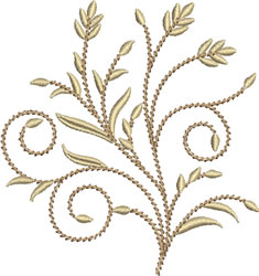 Golden Wheat Stalks embroidery design