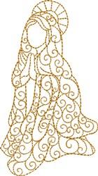 Nativity Mary embroidery design