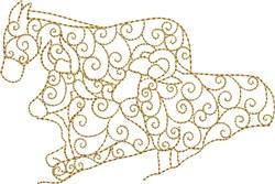 Nativity Animal Trio embroidery design