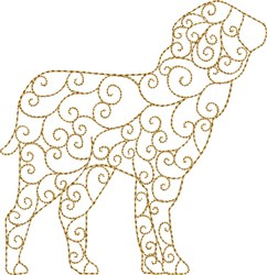 Nativity Standing Lamb embroidery design