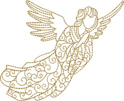 Nativity Angel embroidery design