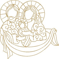 Nativity Holy Family embroidery design