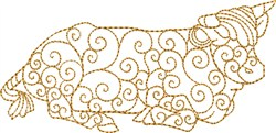 Nativity Ox embroidery design
