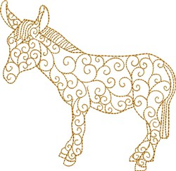 Nativity Donkey embroidery design