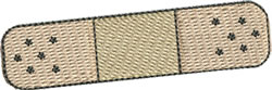 Band-aid embroidery design