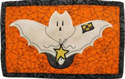 ITH Prim Bat Mug Mat embroidery design