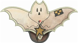 Prim Bat Applique embroidery design