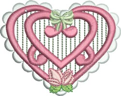 Heirloom Heart embroidery design