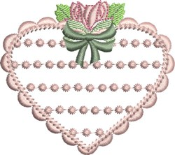 French Knot Heart embroidery design