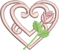 Curlique Heart embroidery design