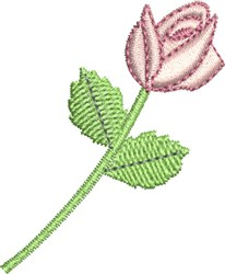 Heirloom Rose bud embroidery design
