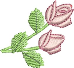Two Roses embroidery design