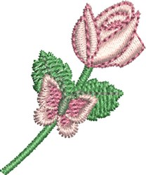 Rose and Butterfly embroidery design