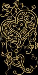 Heart Fretwork embroidery design