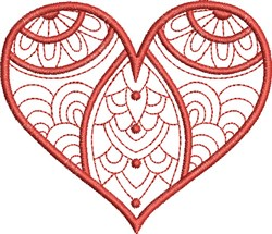 Patterned Heart embroidery design