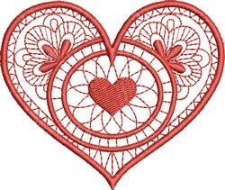 Heart In Heart embroidery design
